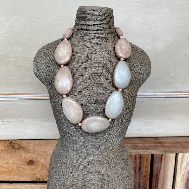 Two Tone Stone Necklace