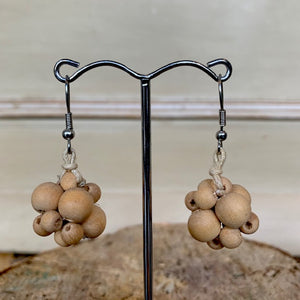 Wood Cluster Earrings