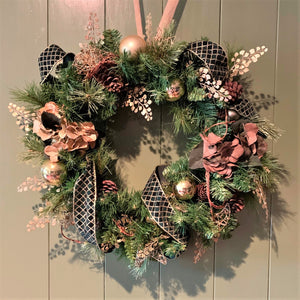 Earthy Forest Green Door Wreath