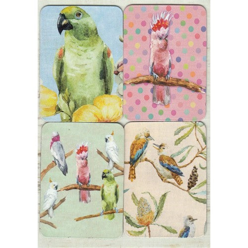 Australian Birds Removable Magnets Card