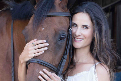 Andrea Wise and her horse Chloe, photography by Shannen Smyth Photography.