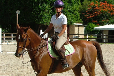 Juliana Chapman riding her horse Sammy.