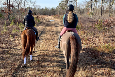 Winter Trail Rides with Her Riding Habit.