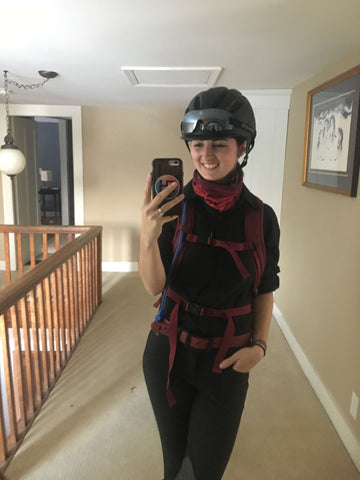 Kelsey Eliot of Kelsey Does the Derby, Mongolian Derby wears Tipperary Sportage Helmet.