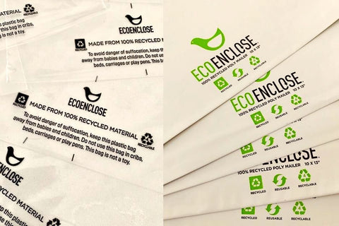 Eco Enclose sample mailers, poly bags and clear plastic bags for equestrian sun shirts.