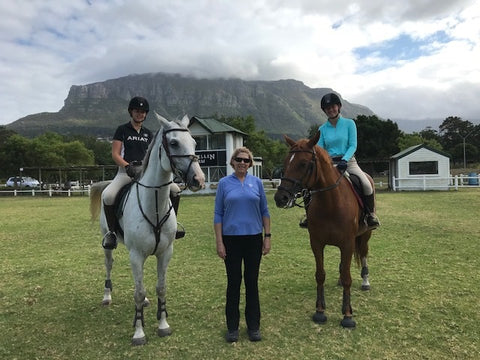 Sally Batton, Equestrian coach, in Hawaii.