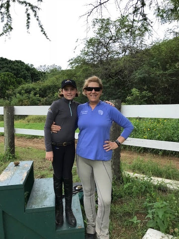 Sally Batton, equestrian coach, taught a clinic near Koko Crater.
