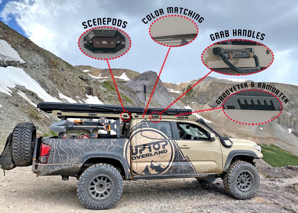 Features of upTOP tacoma roof and bed racks