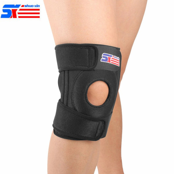 Adjustable 4 Springs Elastic Knee Support Brace - Workout Vital