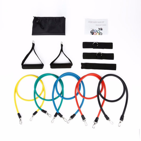 Natural Latex Belt Resistance Band Stretch Bands - Workout Vital