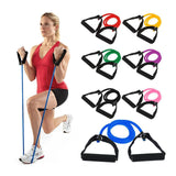 No Noise Abdominal Wheel Elastic Resistance Bands - Workout Vital