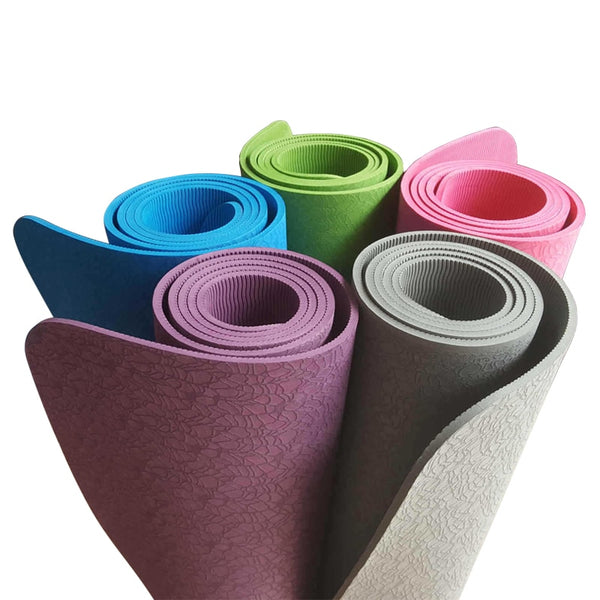 Yoga Mat Thick 6 MM, Extra Long 183 CM, Non-Skid, Suitable for Yoga Studio