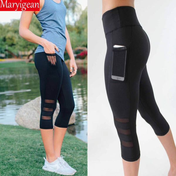 Capri Pocket Mesh Leggings