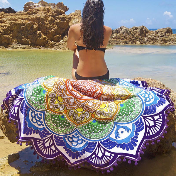 Beach Towel Yoga Mat - Workout Vital