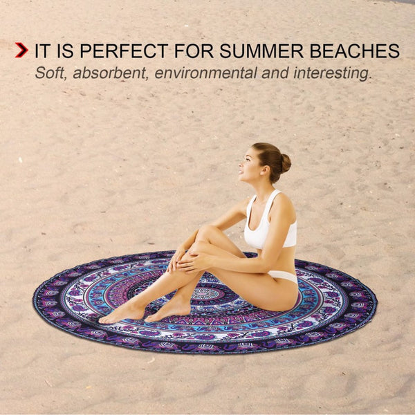 Round Shape Beach Mat - Workout Vital
