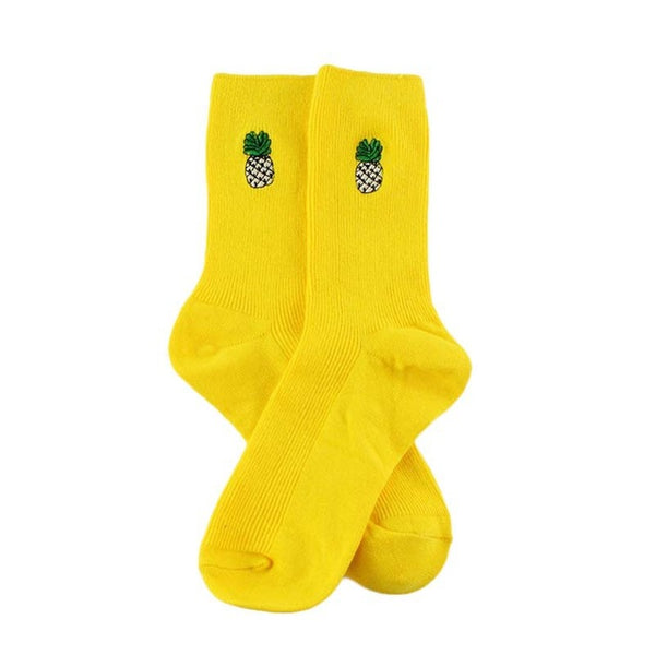 Cute Cartoon Fruit Print Socks - Workout Vital