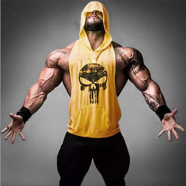 Punisher Tank Top Men Training Vest Undershirt