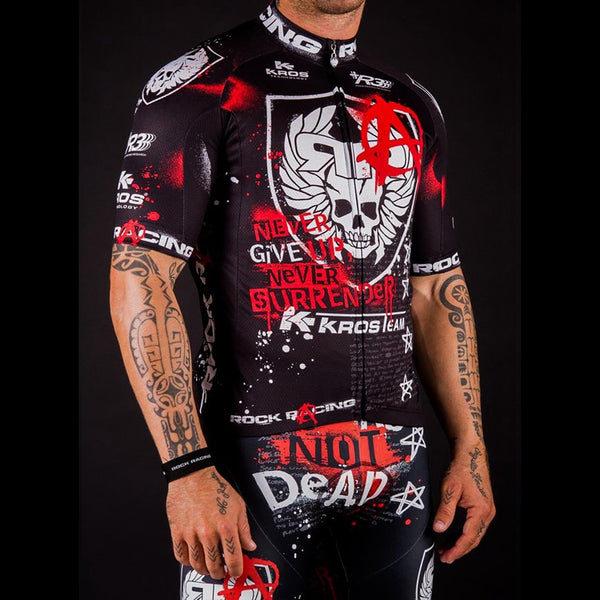 Team Rock Racing Short Sleeve Bike Jersey + Breathable Shorts