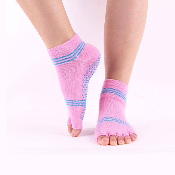 Anti-skid Autumn Winter Sports Yoga Toe Socks - Workout Vital