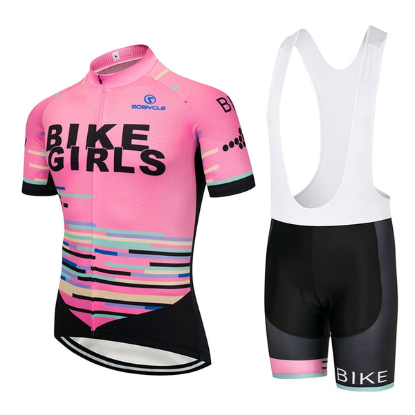 PRO Bike Girls cycling jersey, bibs, shorts, suit quick dry