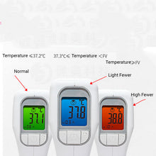 Load image into Gallery viewer, 3 Color Alert Infrared Forehead Thermometer Body for Baby Body Temperature Measure or Child & Adults