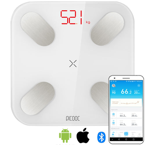 PICOOC Mini Body Fat Weighing Scale (White Colour)