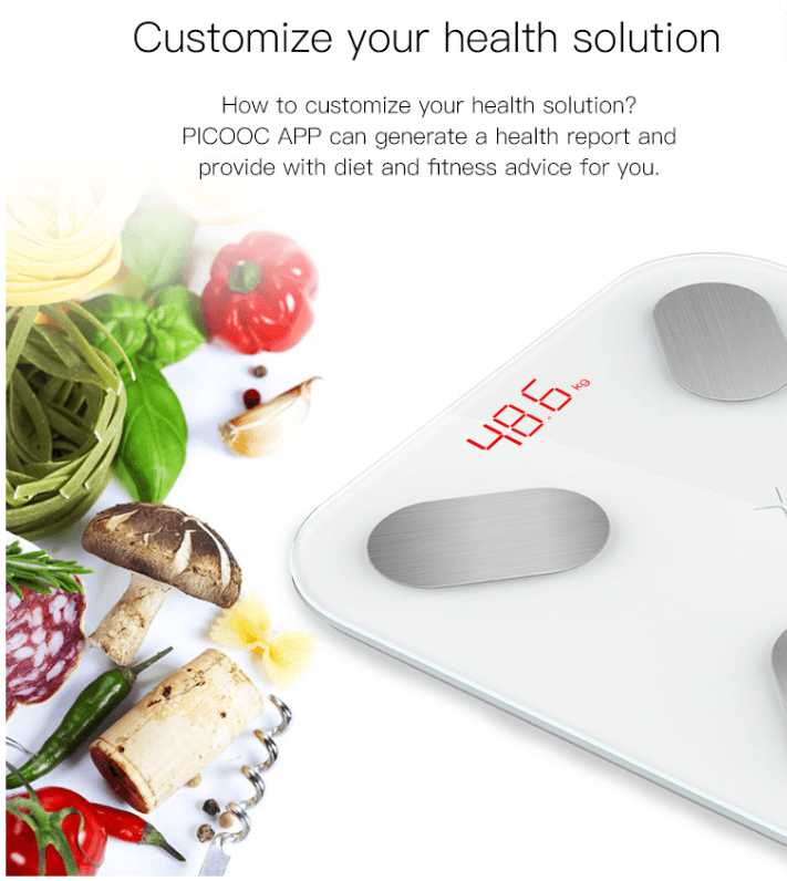 PICOOC Mini Smart Digital Personal Weighing Scale with 11 Indexes