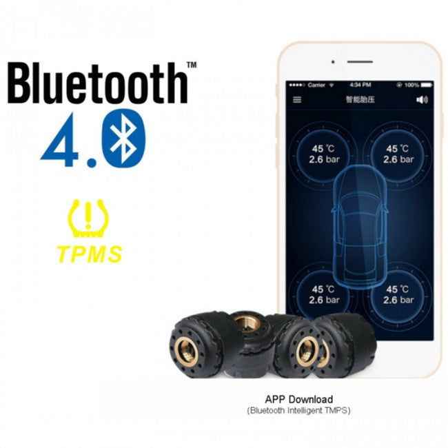 TPMS BLE TP-630 Bluetooth V4.0 Wireless Tire Pressure Monitoring System