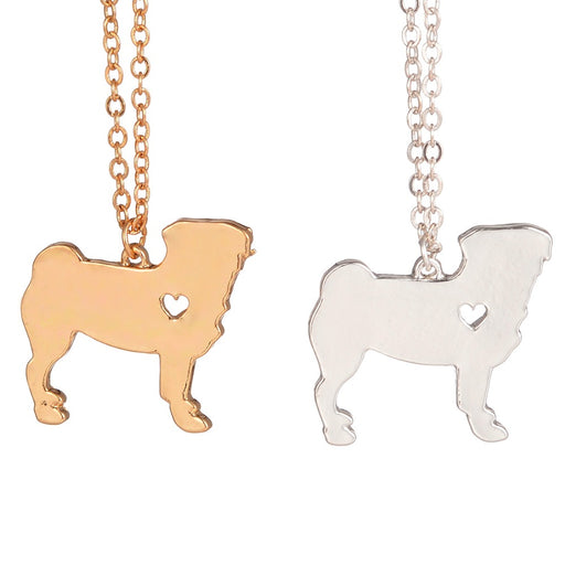 Cute Pug Pendant Necklace