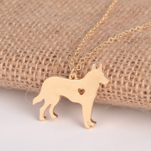 Cute German Shepherd Pendant Necklaces