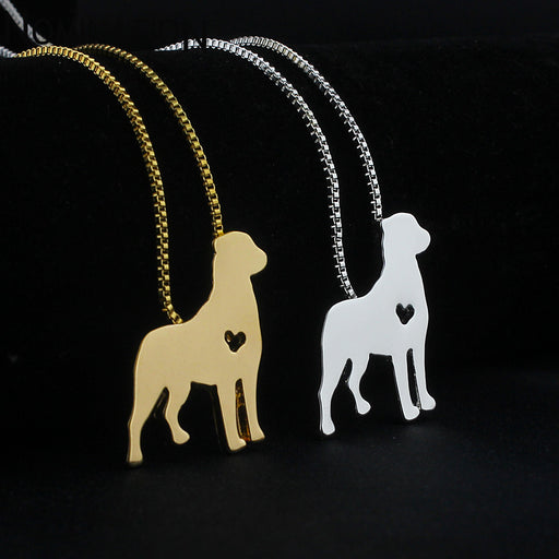 Cute Rottweiler Pendant Necklaces