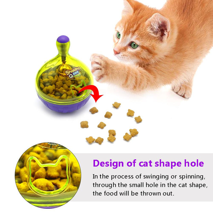 Treat Shaker Cat Pet Training Toy Food Ball Dispenser