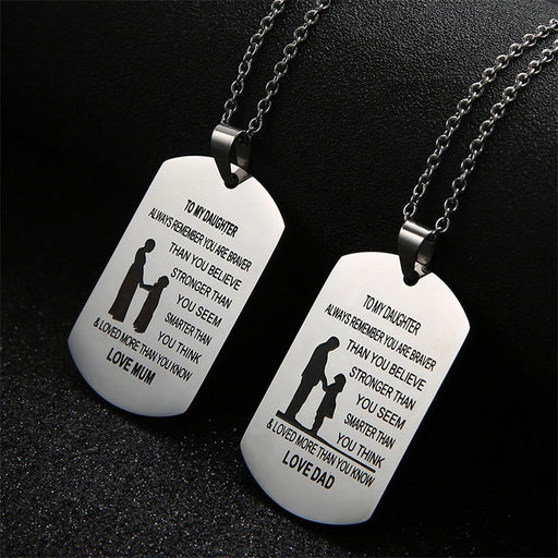 MY SON/MY DAUGHTER Necklaces (engrave name)