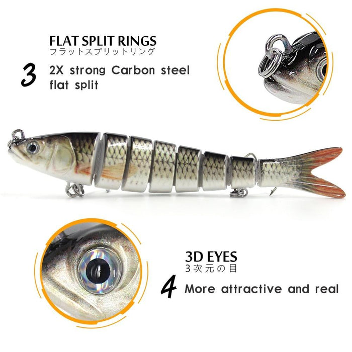 Multi Jointed Pike Fishing Lure
