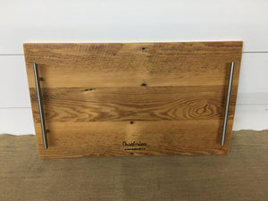 Reclaimed Serving Tray w/Stainless Hardware