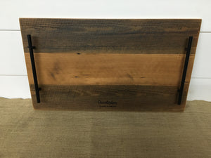 Reclaimed Serving Tray w/ Black Hardware