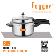 Load image into Gallery viewer, Fogger Aluminium Outer Lid Pressure Cooker 3 Litre with Dry Iron