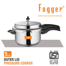 Load image into Gallery viewer, Fogger Aluminium Outer Lid Pressure Cooker 5 Litre