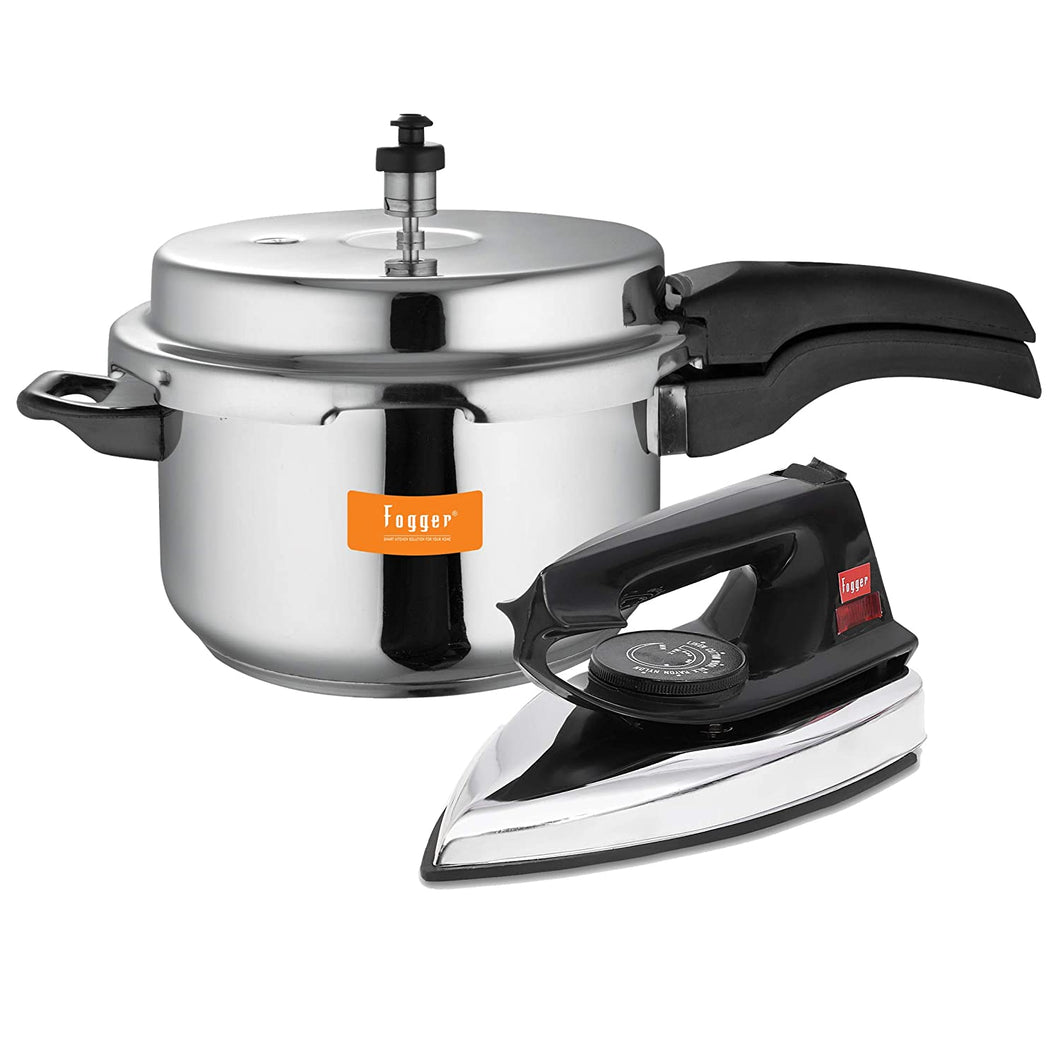 Fogger Aluminium Outer Lid Pressure Cooker 3 Litre with Dry Iron