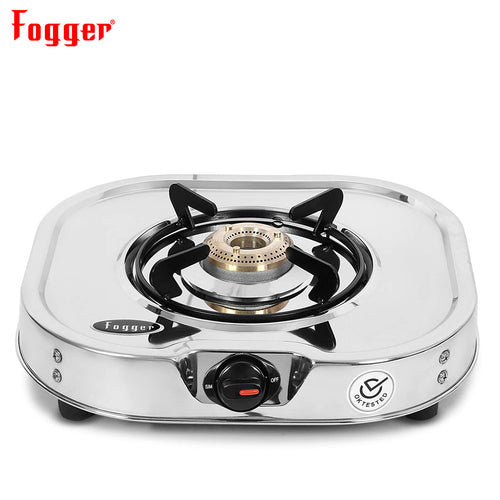 Fogger Glen Stainless Steel 1 Burner Gas Stove, ISI Certified