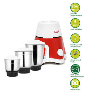 Fogger Star 3 Jars 500 Watt Mixer Grinder with Electric Kettle