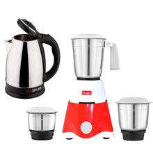 Load image into Gallery viewer, Fogger Star 3 Jars 500 Watt Mixer Grinder with Electric Kettle