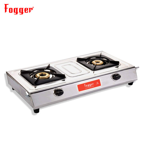 Fogger Mini Gold Stainless steel Gas Stove 2 Burner