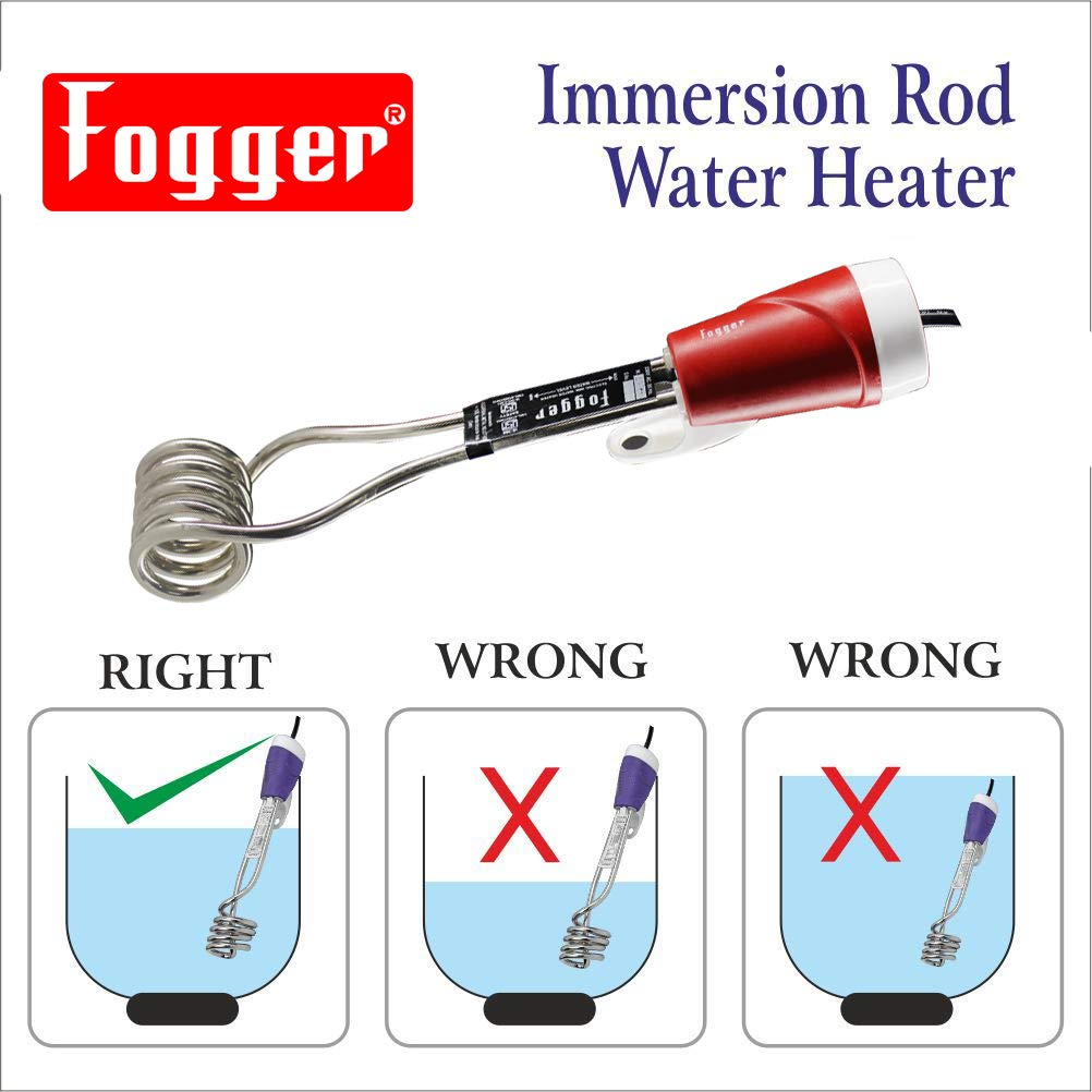 Fogger 1500W Copper with Nickel Plating Shockproof, Waterproof Electric Water Heater Immersion