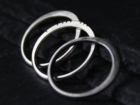 143 flattened sterling silver stacking ring