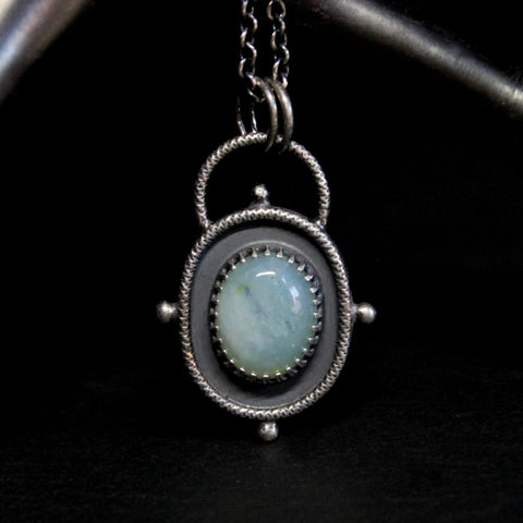 PERUVIAN OPAL STARDUST NECKLACE / STERLING SILVER