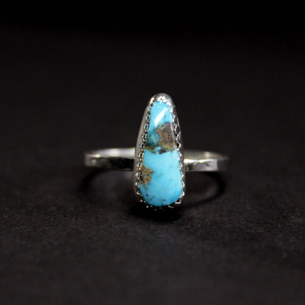 size 7.75 - kingman turquoise skinny stacking ring