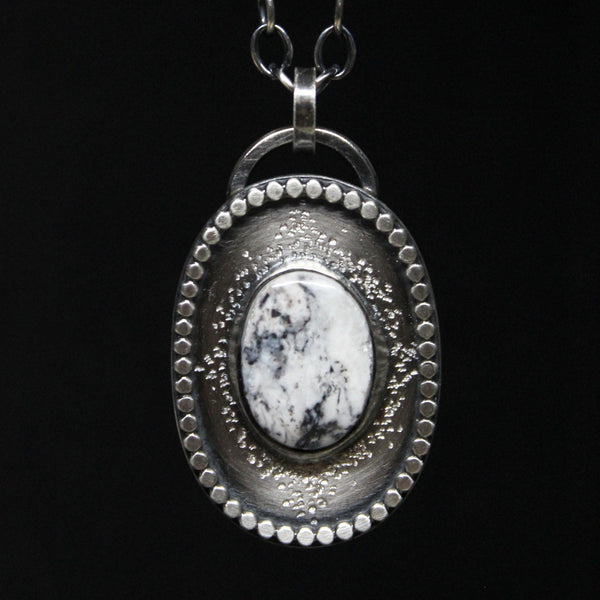 white buffalo stardust necklace