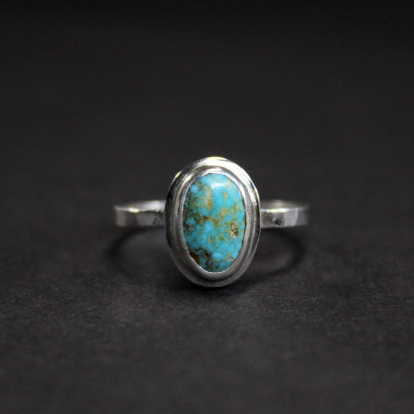 size 6 - 6.25 - kingman turquoise skinny stacking ring