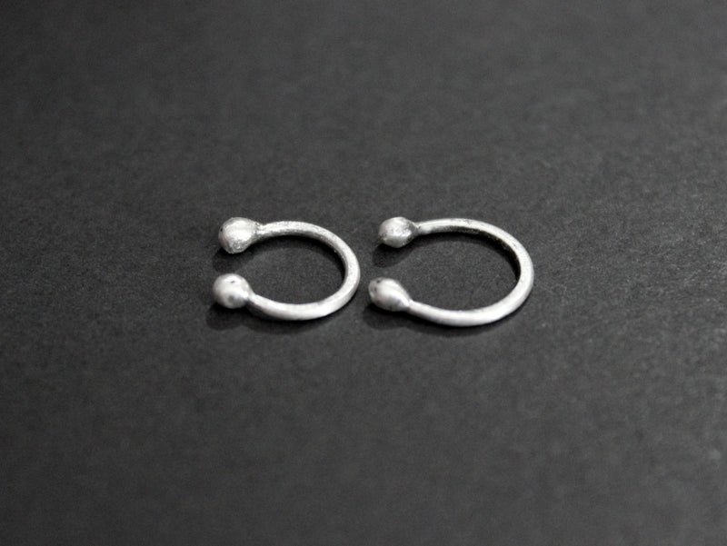 simple faux septum captive nose ring